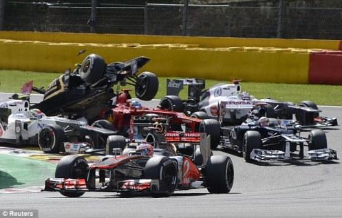 7 - Grosjean, he fly!